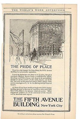 1916 The Fifth Avenue Building New York City Advertisment