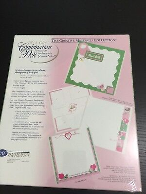 Creative Memories 1998 Vintage It's a Girl Pink Baby Scrapbooking Pages NEW