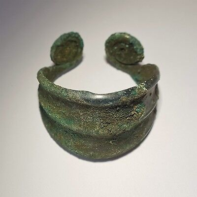Bronze bracelet with spiral ends. Bronze Age
