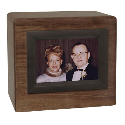 Wood Cremation Urn (Wooden Urns) - Walnut Companion Photo