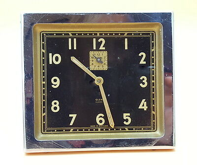 Art Deco  Glen made in Scotland alarm clock