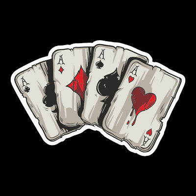 1x PET Graphics Playing Cards A Car Truck Window Laptop Helmet Decal Sticker New