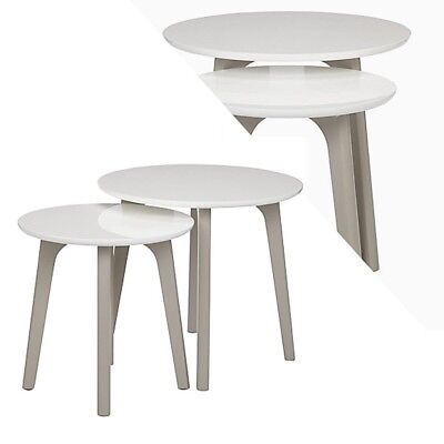 Dillon Nest Of 2Tables Smoke Grey Painted Ash Veeners & Rubber Wood
