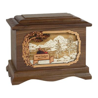 Wood Cremation Urn (Wooden Urns) - Walnut Soulmates Ambassador