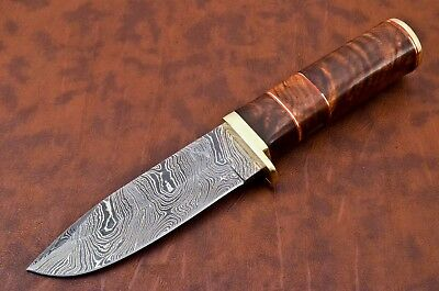 Damastmesser Damaszener Damascus Steel Knife Couteaux Camping Outdoor Bushcraft