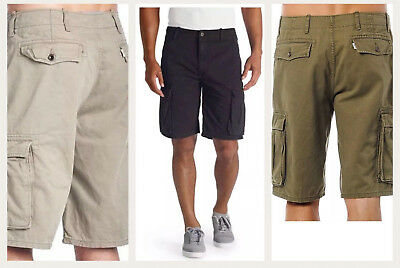 New Levis Shorts Relaxed Fit Ace Cargo Shorts Many Colors 30 32 34 36 38 x
