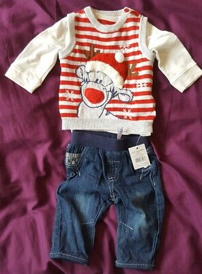 new disney baby boy christmas outfit 0 3 months tigger winnie the pooh