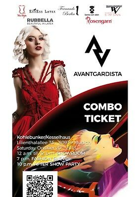 2x Tickets AVANTGARDISTA Showroom/Fashion Shows/After Show Party 20.10. München