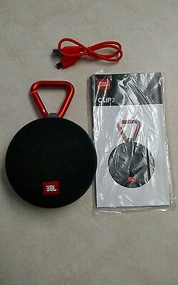 JBL Clip 2 Portable Wireless Bluetooth Speaker, Waterproof. Latest Model (Black)