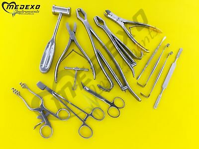 Veterinary Orthopedic Kit Surgical Instruments Set Of 15 Pcs Best Quality