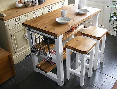 Swell Rustic Kitchen Island Breakfast Bar Work Bench Butchers Squirreltailoven Fun Painted Chair Ideas Images Squirreltailovenorg