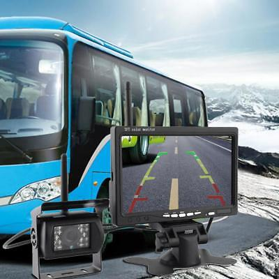 """Wireless Backup Camera System+7"""" LCD Car Rear View Monitor for Bus Truck Trailer"""