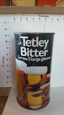Collectable Tetley Bitter Beer Can 4.9 pints (278 cl.)