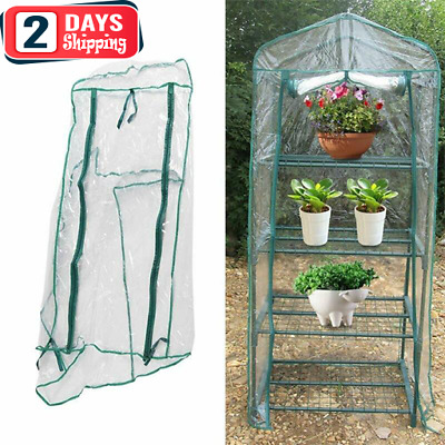 Portable Mini Greenhouse Outdoor Plant Shelves Canopy Winter Walk-in Green House