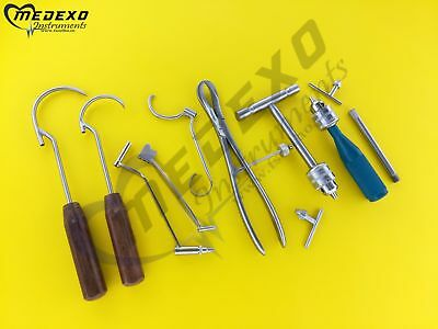 Orthopaedic Veterinary Surgical Medical 9 Pcs Set Instrument Excellent Quality
