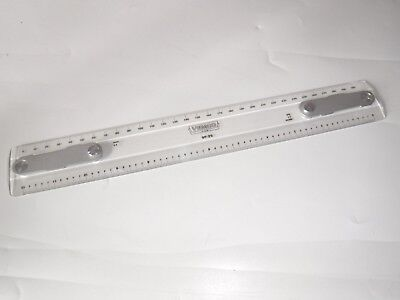 VEMCO Plastic Drafting Machine Scale 9P-25 300mm Inch 1:1 50 1:1 MM