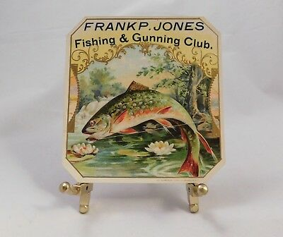 Fishing and Gunning Club Outer Cigar Box Label