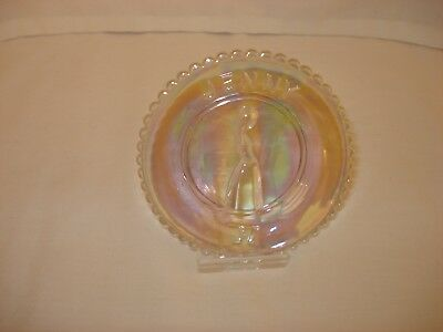 Mosser Glass for Vi Hunter Jenny Cup Plate Clear Iridized