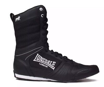 Lonsdale Contender black Boxing Boots Mid Cut Lace Up Sport Shoe size UK 9 mens