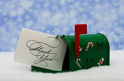USPS Letter Carrier Thank You postcards for Christmas - 100 per pack