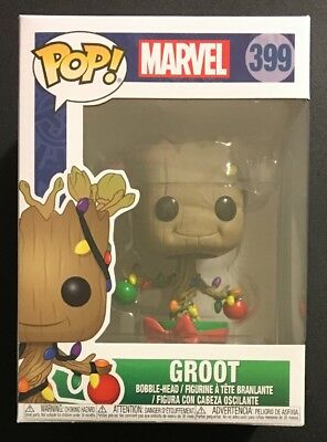 Funko Pop! Marvel Holiday Groot #399 With .45 MM Protector!