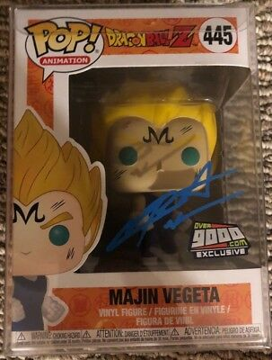 Funko Pop Dragon Ball Z Majin Vegeta NYCC 2018 Exclusive Over 9000 Autographed