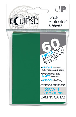 PRO-Matte Eclipse Forest Green Small Deck Protector sleeve 60ct
