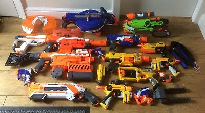 Huge Nerf Gun Bundle Hail Fire Demolisher Stryfe Guns Attatchments MORE