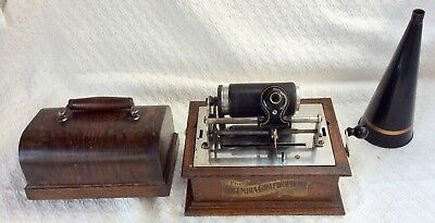 early •COLUMBIA•old Talking Machine antique •BV GRAPHOPHONE cylinder PHONOGRAPH•