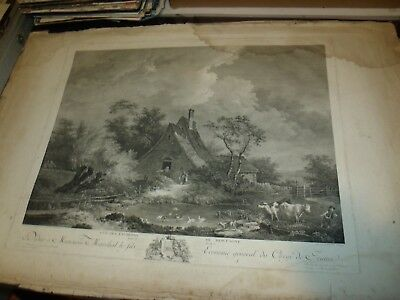 18TH CENTURY Huge Original GRAVURE BY Louis Joseph Masquelier