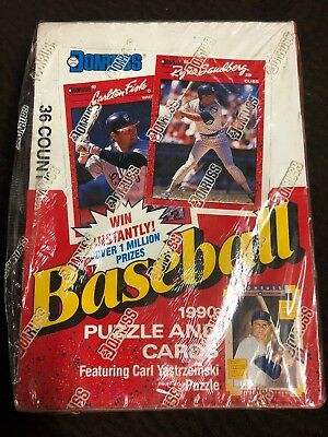 1990 Donruss Baseball Cards Factory Sealed Box of 36 Unopened Packs/ Brand New