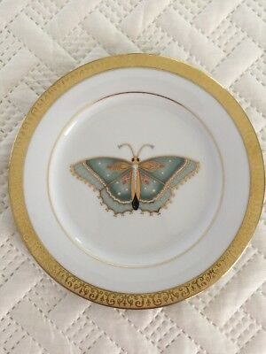 Mint Set Of 6 Gold Buffet Royal Gallery Butterfly plates 1991