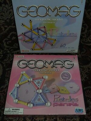 2 New GEOMAG Magnetic World Construction Sets Swiss-Made 106 Building Pcs Total