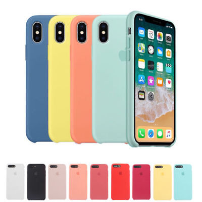 ORIGINAL Silicone Back Case Cover Genuine For Apple iPhone XR XS Max