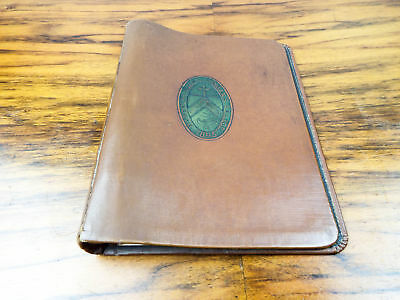 Antique Leather Embossed Randolph Macon Woman's College Ring Binder File 1910 20