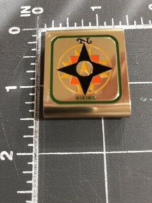 Vintage Boy Scouts of America BSA Cub Hiking Skill Award Metal Belt Slide Loop