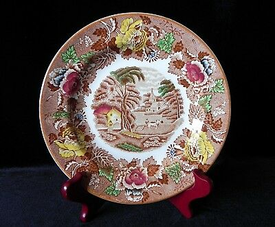 """Vintage WOOD & SONS ENOCH WOODS ENGLISH SCENERY WOODS WARE PLATE 6.75"""""""