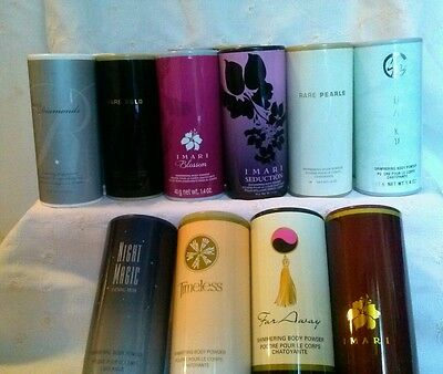 Avon Body Powder~  Rare Gold, Pearl, Haiku, Imari, Timeless, N/magic Lot 2