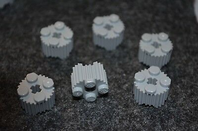 8 2x2 Light Gray Specialty Cover w// Ridges Bricks  ~ Lego ~ NEW ~