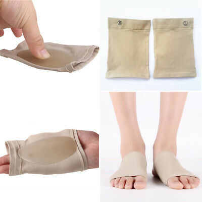GEL Plantar Fasciitis Foot Heel Arch Support Sleeve Insole Orthoti Z Pain Relief