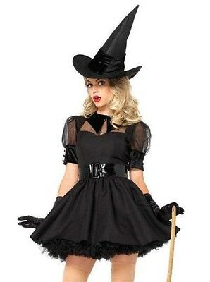 CL687 Bewitching Witch Beauty Dark Gothic Wicked Halloween Womens Costume Hat