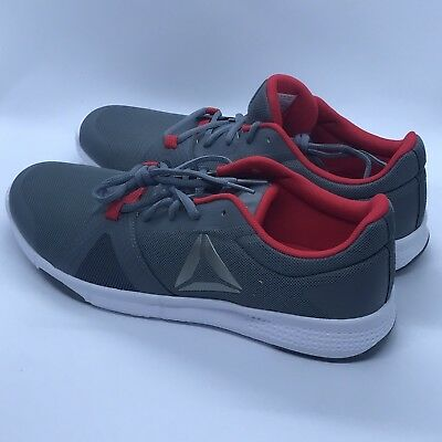7df5c4b90971d9 Reebok Flexile Mens Gray Mesh Athletic Lace Up Training Shoes Size 10 New