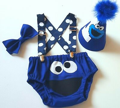 Cookie Monster Cake Smash Outfit