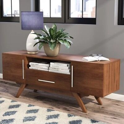 Retro Vintage Tv Stand Cabinet Console Media Furniture Mid Century Drawer