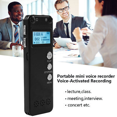 8GB New Digital Sound Voice Recorder Dictaphone MP3 Player Continuous 96 Hours