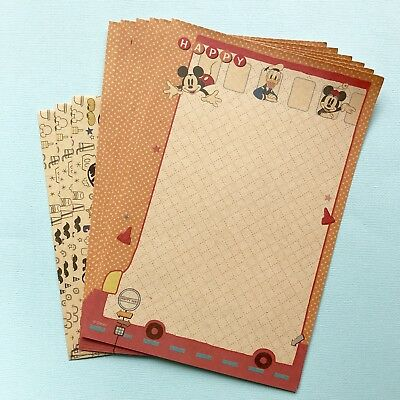 Mickey Mouse Cute Letter Set/ Writing Note Paper Scrapbook /planner /journal
