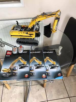 Lego Technic 8043 Motorized Excavator 100 Complete With Box
