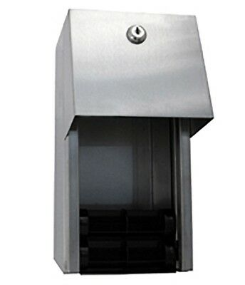 Metlam DOUBLE TOILET ROLL DISPENSER Surface Mounted, Stainless Steel *Aust Brand