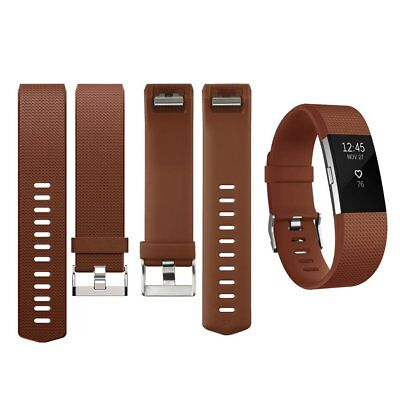 For Fitbit Charge 2 Replacement Bracelet Wristband Wrist Strap Watch Band Coffee