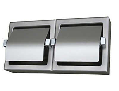 Metlam DOUBLE ROLL TOILET TISSUE DISPENSER Surface Mounted, Stainless Steel